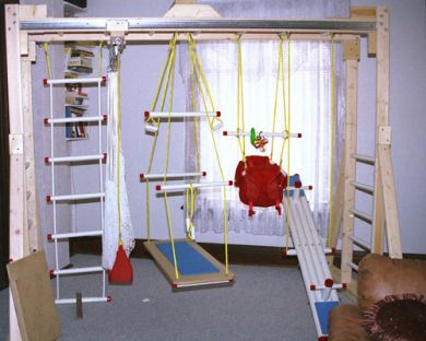 an indoor home gym for kids