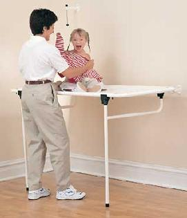 From Library.rehabmart.com Unlike Traditional Bulky Dressing Tables, This  Sturdy Portable Changing ...